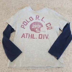 Ralph lauren football shirt boys 8